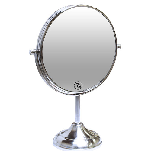 8. Decobros 8-inch LARGE Tabletop Two-sided Swivel Vanity Mirror