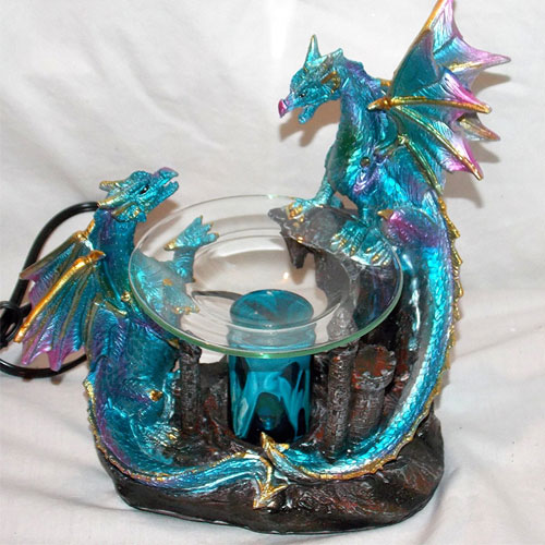 4. Dragon Polyresin Oil Warmer with Dimmer