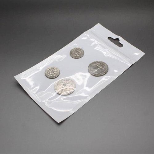 7. White Transparent Ziplock Plastic Bags