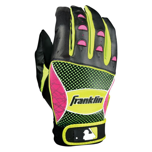 2. Franklin Sports MLB Shok-Sorb Batting Gloves