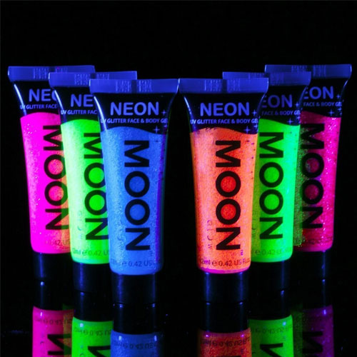 9. Moon glow black light UV glitter face and body gel 0.42 oz