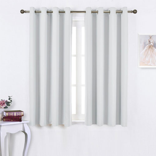 Nicetown White Blackout Curtain Panels