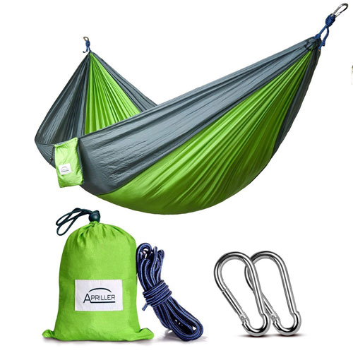 3. Double and single camping hammock.