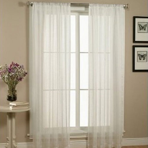 WPM 2 Piece Beautiful Sheer Window Elegance Curtains