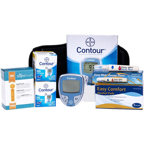 5. Bayer Contour Meter, 100 Contour Test Strips, Much More
