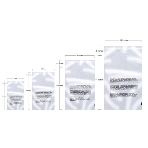 10. 400 Poly Bags Combo Pack