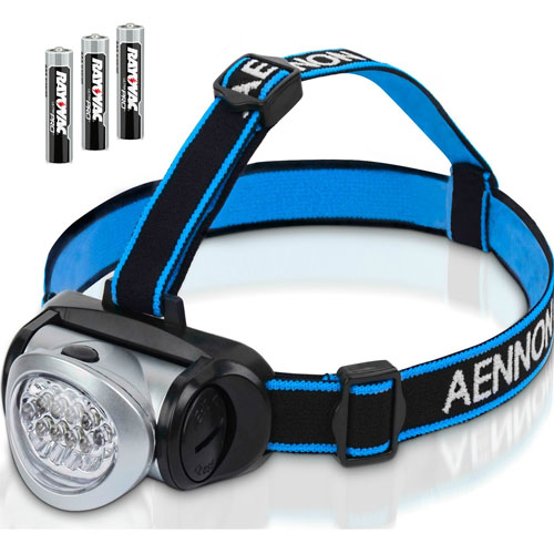 8 Aennon LED Headlamp Flashlight with Red Lights for Running, Camping, Reading and lots more