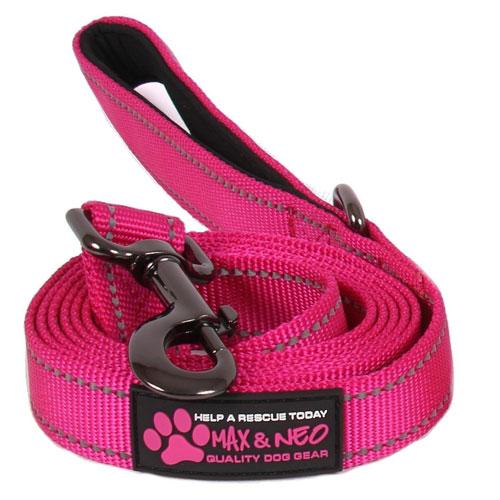 Max and Neon Reflective Nylon Dog Leash
