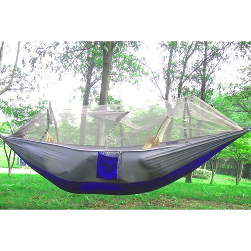 8. EIALA camping hammock with a mosquito net outdoor.