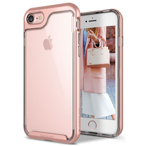8. Caseology Clear and Rose Gold Case