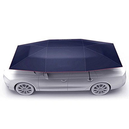 Car Tent Semi Automatic Folded Portable Automobile Protection Umbrella Sunproof Car Hood