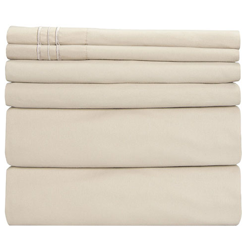 Full Size Sheet Set - Hotel Luxury Bed Sheets -6 Piece Set