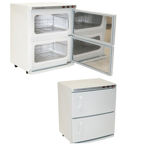 9. High Capacity Double-Decker Hot Towel Cabinet
