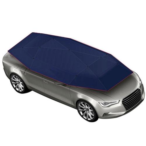 XSPOLVE Semi-Automatic Folded Movement Car Tent Sunshade Waterproof Cover, Navy