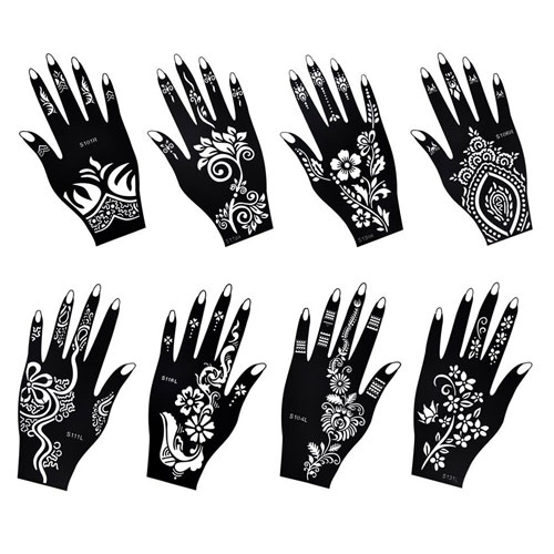 9. Henna Tattoo Stencil / Temporary Tattoo Temples
