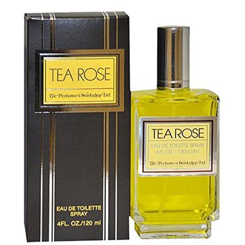 Tea Rose Perfume for Women 4-Ounce EDT Spray by Perfumer's Workshop