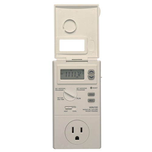 LUX WIN100 Heating and Cooling Programmable Outlet Thermostat