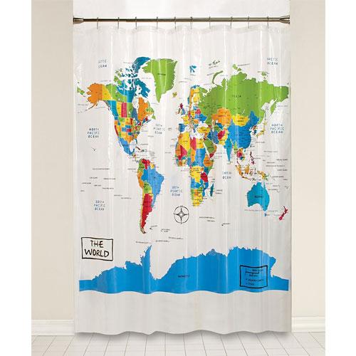 Saturday Knight the World Peva Shower Curtain