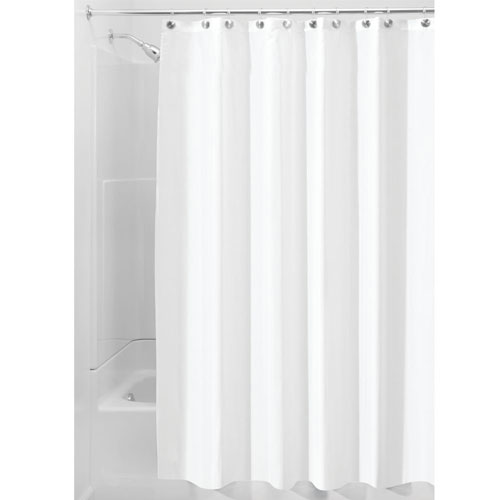InterDesign Waterproof Mold and Mildew Resistant Fabric Curtain