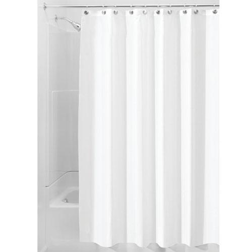 InterDesign Waterproof Mold and Mildew-resistant Fabric Shower Curtain