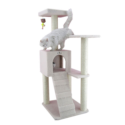 Armarkat Cat Tree Furniture Condo Height 50 Inches To 60 Inch