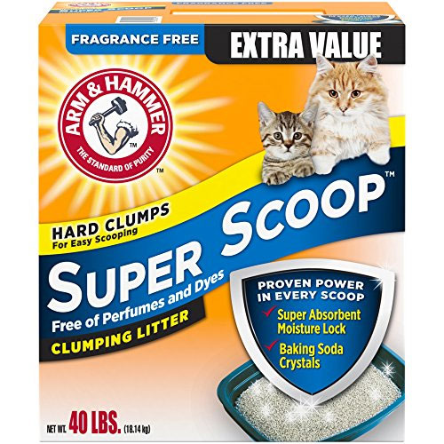 Arm and Hammer Super Scoop Clumping Litter, Fragrance-free