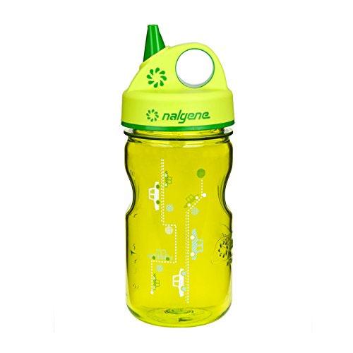 Nalgene Grip-N-Gulp Water Bottle (Spring Green Cars, 12-Ounce)