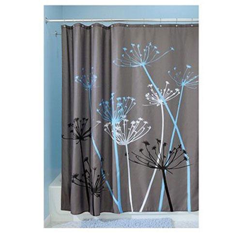 InterDesign Thistle Fabric Shower Curtain