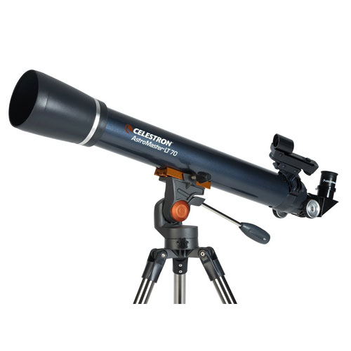 Celestron AstroMaster LT 70AZ Refractor No-Tool Setup Refracting Telescope