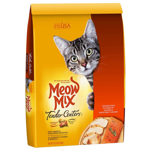 Meow Mix Tender Centers Salmon & Turkey Flavors with Vitality Bursts Dry Cat Food