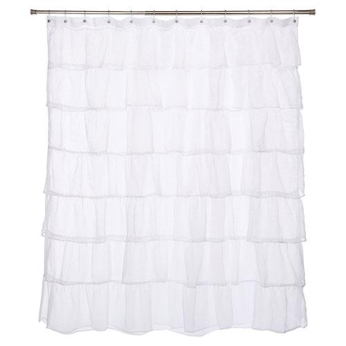 Gee Di Moda Gypsy Ruffled Shower Curtain