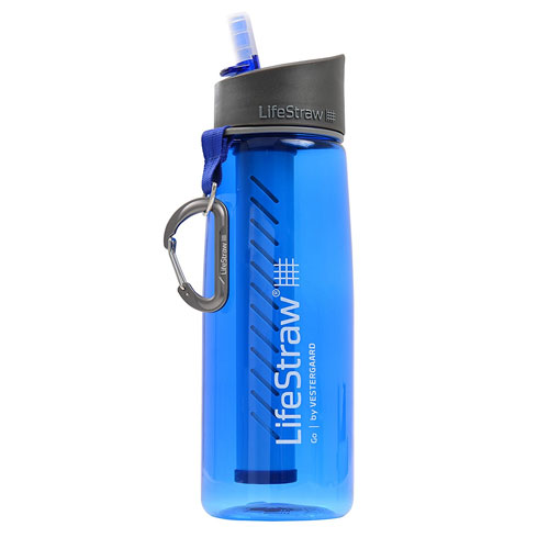 LifeStraw Go Water Bottle with Integrated 1Liter LifeStraw Filter