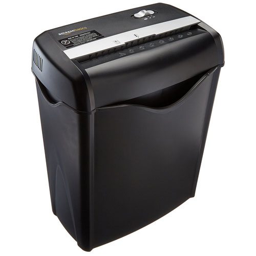Amazon Basics 6 Sheet Cross Cut Paper and Credit Card Shredder