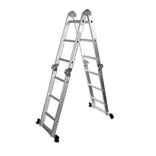 ALEKO FL-12 Multi-purpose Position 12 Step Aluminum Folding Ladder