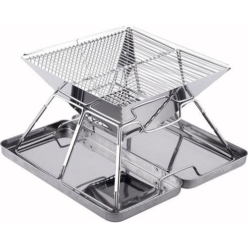 Caesar Hardware Folding Steel Portable Charcoal BBQ Grill