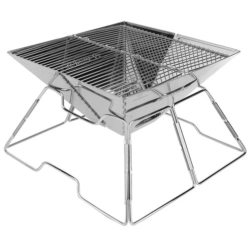 Wealers Compact Folding 12 Inch Charcoal BBQ Grill Made From Stainless Steel