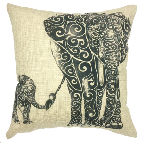Your Smile Elephant Pillow Cover