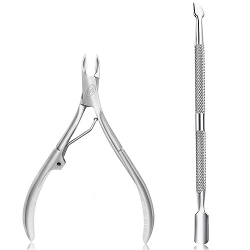 Blue Orchids Cuticle Nipper with Cuticle Pusher