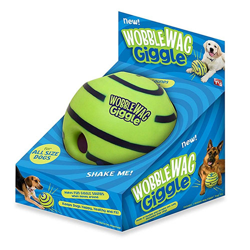 Wobble Wag Giggle Ball, Dog Toy