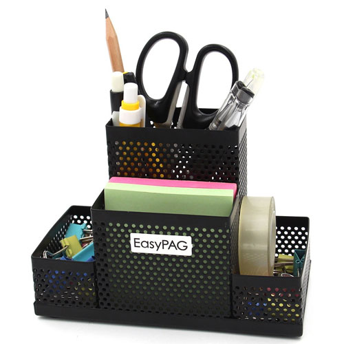 EasyPAG Mesh Desk Accessories Organizer Office Supplies Pen Holder