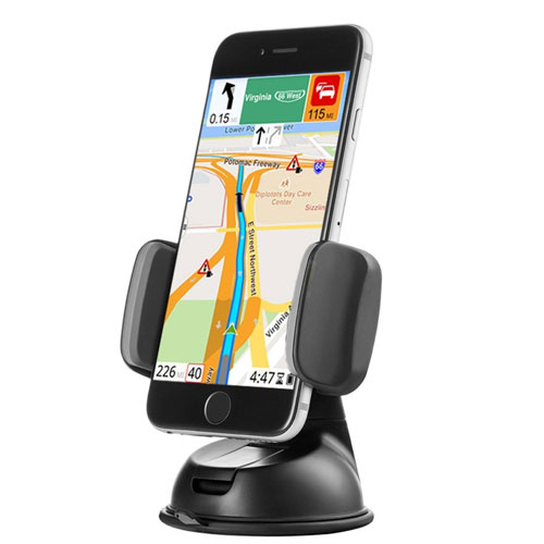 Zilu Car Phone Mount, Cell Phone Holder for Dashboard and Windshield