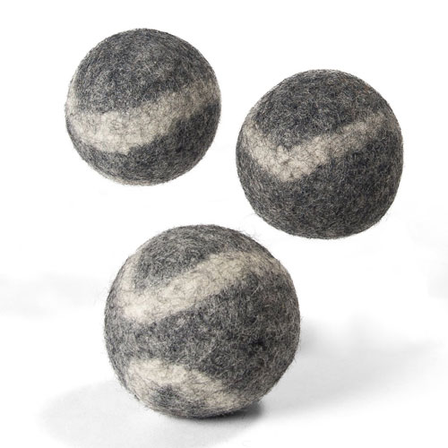 TennisWools - All Natural Tennis Balls for Dogs - 3 Pack - 100% Merino