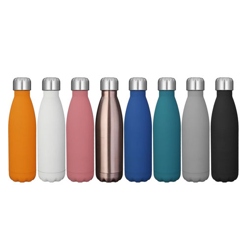 KINGSO 17 oz. Double Wall Vacuum Cool Insulation Stainless Steel Water Bottle Leak- proof