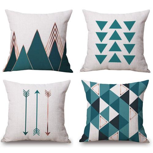 Bluettek Modern Geometric Style Pillow Cover