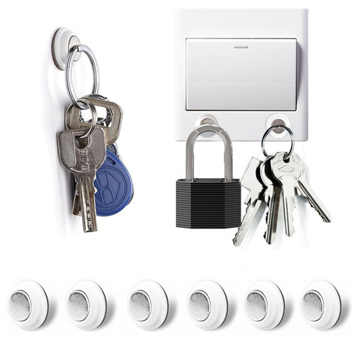 Tescat six Packs Magnetic Wall Key Holder