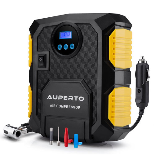 Digital Tire Inflator, AUPERTO Electric DC 12 Volt Car Portable