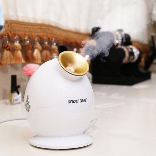 KINGDOMBEAUTY NanoSteamer Warm Mist Facial Steamer Nano Ionic Hot Mist Moisturizing Face Steamer Personal Sauna