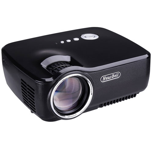 Projector, Hausbell LED Lumens 1500ANSI Luminous Efficiency Portable Projector
