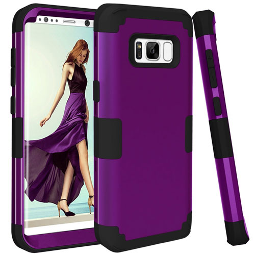 Galaxy S8 Case, PIXIU Shockproof Hybrid High Impact Case