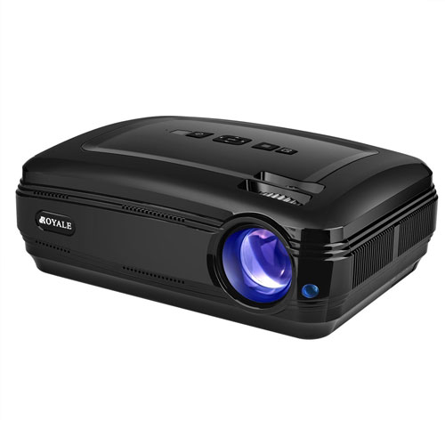 Video Projector 1080P HD Gaming PC Home Theater LCD Croyale 3200 Luminous Projector